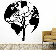 Stickers muraux carte du monde stickers muraux