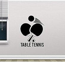 Stickers muraux chambre art tennis de table mur