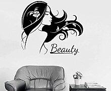Stickers muraux Cheveux Beauté Salon Logo Belle