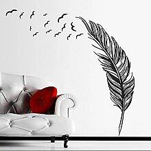 Stickers muraux créatifs de plumes à la maison