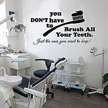 Stickers muraux de bureau dentaire décoration de