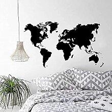 Stickers muraux en vinyle carte du monde stickers