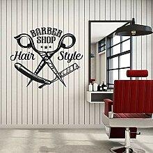 Stickers muraux en vinyle salon de coiffure