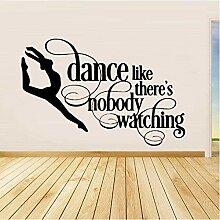 Stickers muraux fille dansante accessoires de