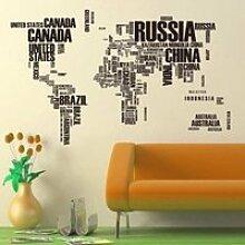 stickers muraux lettre carte du monde devis