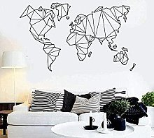 Stickers muraux PVC salon chambre carte du monde