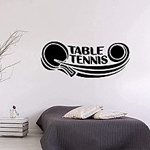 Stickers muraux PVC sport tennis de table logo art