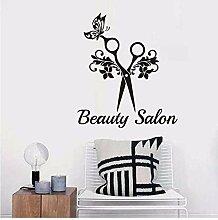 Stickers Muraux Salon De Coiffure Papillon Fleur