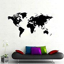 Stickers muraux stickers carte du monde maison