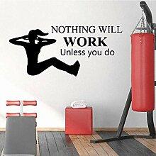 Stickers Muraux Stickers Papier Peint Travail Gym