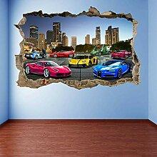 Stickers muraux Super Sports Cars Supercar Mural