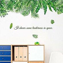 Stickers muraux Vert Vert Tropical Feuilles pour