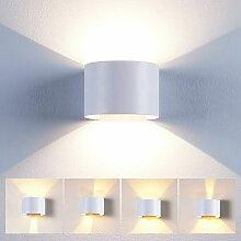 Stoex - Applique Mural Interieur 12W LED Blanc,
