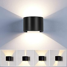Stoex - Applique Mural Interieur 12W LED Noir,