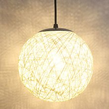 STOEX Blanc Rétro Suspension Luminaire en Rotin
