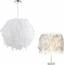 STOEX Lustre Suspension abat-jour Lampe plumes 30