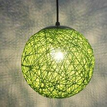 STOEX Vert Rétro Suspension Luminaire en Rotin