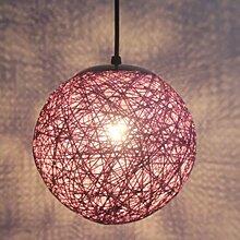 STOEX Violet Rétro Suspension Luminaire en Rotin