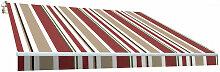 Store banne manuel 3x2m toile polyester bordeaux /