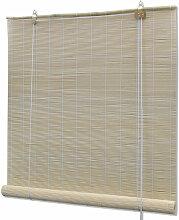 Store enrouleur bambou naturel 140 x 160 cm