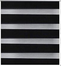 Store Enrouleur Tamisant 120x175 cm Noir