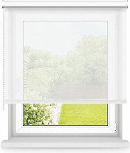 Store enrouleur tamisant blanc L90x H190cm