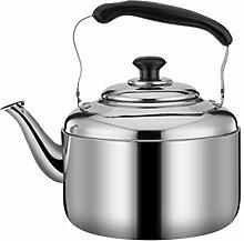Stovetop sifflet Teapot argent classique en acier