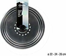 stylalu Couvercle ALU ANTIBUEE CE 22 a 26 cm pour