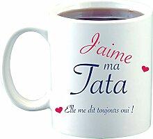 Sublimagecreations Mug J'aime ma Tata, idée