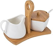 Sucrier Au Lait en Céramique Pot À Lait Blanc