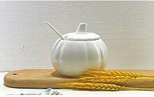 Sucrier de café en porcelaine en porcelaine, bol