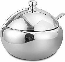 Sucrier en acier inoxydable 304 - Pot à épices -