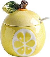 Sucrier en céramique en forme de fruit, pot de