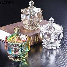 Sucrier en verre cristal de luxe européen, pot de