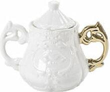 Sucrier I-Sugar - Seletti blanc/or en céramique