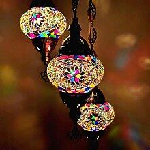 Sudamlasibazaar Lampe de plafond en mosaïque