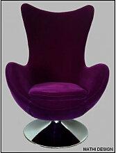 SUEDE - Fauteuil design moderne en 2 coloris