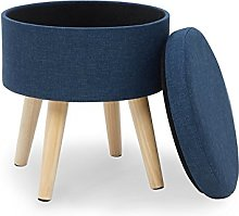 Suhu Ottoman Pouf Repose Pied Rond Pouffe Tabouret