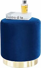 Suhu Pouf Tabouret Velours Coiffeuse Repose Pied