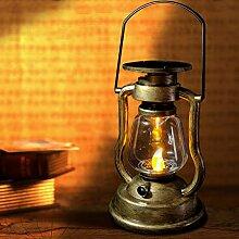 SUNASQ Lampe de Lanterne à Huile Solaire,