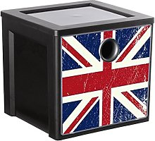 Sundis 4477026 Cube de Rangement, Plastique, Flag