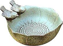 Sunnyushine Plateau en céramique pour oiseaux -