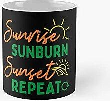 Sunrise Sunburn Sunset Repeat Gifts Idea Classic