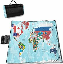 Suo Long Carte du Monde avec Drapeaux de Pays