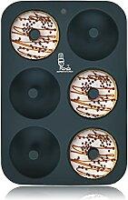 SUPER KITCHEN Moule à donuts en silicone à 6