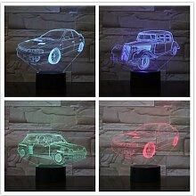 Super voiture lampe de Table 7 couleurs changeante