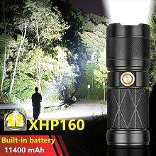 Super XHP160 Puissante LAMPE DE POCHE LED