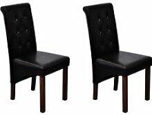 Superbe Chaise capitonnée noire (lot de 2)