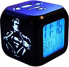 Superhero Superman Créatif 3D Stéréo Réveil