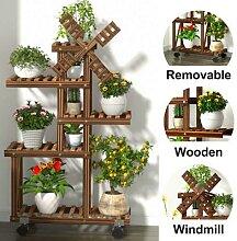 Support à fleurs en bois à 5 niveaux, étagère